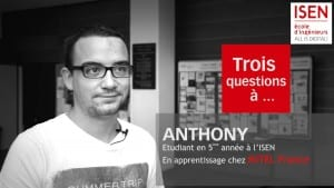 Anthony apprentissage ISEN Brest