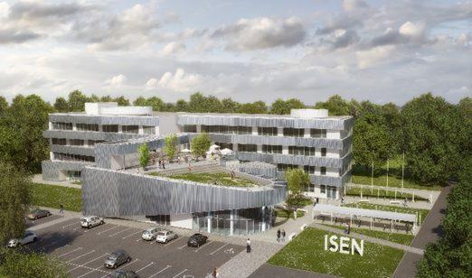"""""""Tranche B"""" du nouveau Bâtiment ISEN Yncréa Ouest à Nantes"""