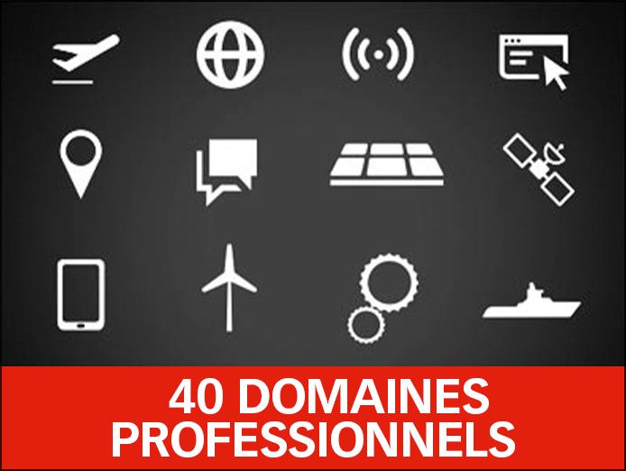 50 Domaines professionnels